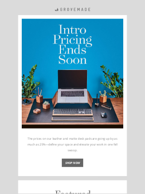 Grovemade - Desk Pad Intro Price Ends Soon