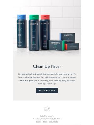 Harry's - The secret to a sensational shower is…