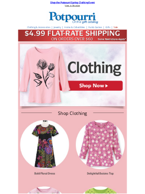 Potpourri Online Catalog - Must-Have New Looks for YOUR Spring & Summer Wardrobe!