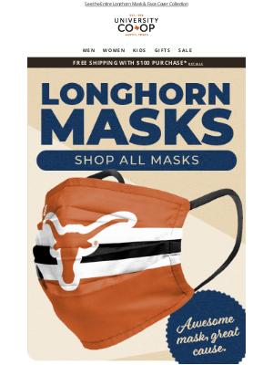 University Co-op - JUST ARRIVED! New Longhorn Face Masks!