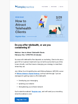 [WEBINAR] Double your telehealth sessions with these 7 strategies