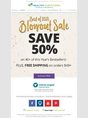 Healthy Directions - The 2020 Blowout Sale Has Arrived!