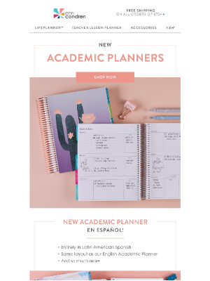 NEW to Our Academic Planner Collection