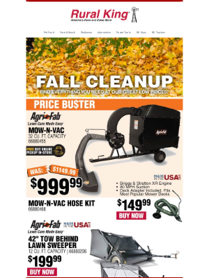 Rural King Supply - 🍂 Fall Cleanup Essentials