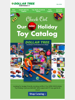 Dollar Tree - Shop our NEW Holiday Toy Catalog Online!