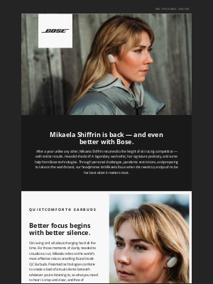 Bose - Mikaela Shiffrin relies on game-changing Bose tech