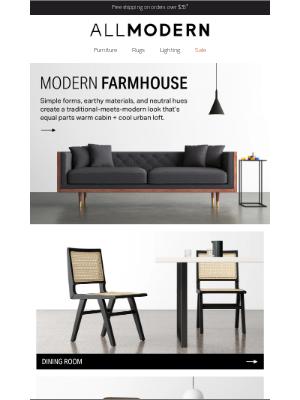 AllModern - ▲ ◼ ⬤ meet the new modern farmhouse