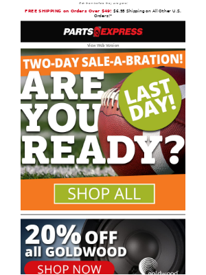 ⌛ Last Day! 🏈 Super Sale-A-Bration!