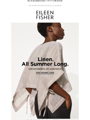 Linen. All Summer Long.