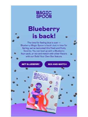 Magic Spoon - Blueberry is back in stock