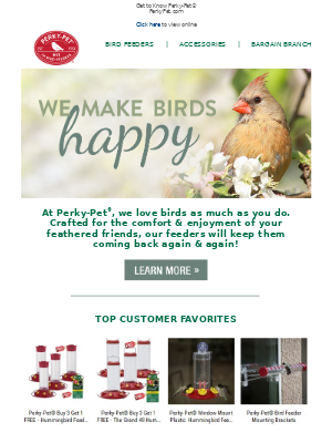 Perky Pet Feeders - Bird is the Word