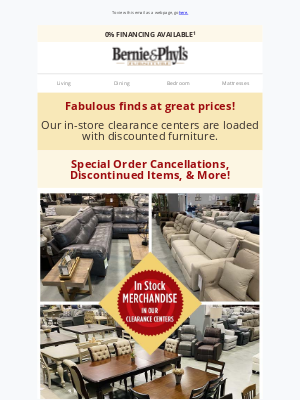 Bernie & Phyl's Furniture - 🍎 CLEARANCE BLOWOUT 🍏 Up to 70% OFF! 🍎