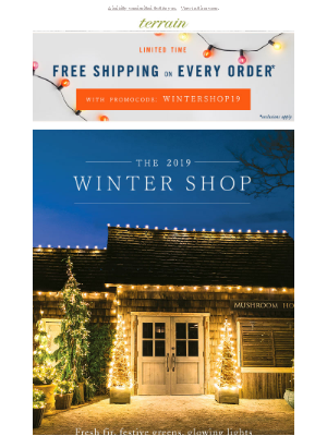 The Winter Shop is OPEN (+ FREE ship!).