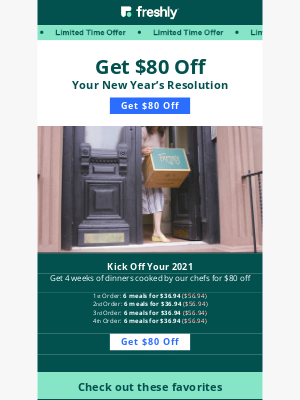 Freshly - 💪 Get $80 Off Your Fresh Start in 2021