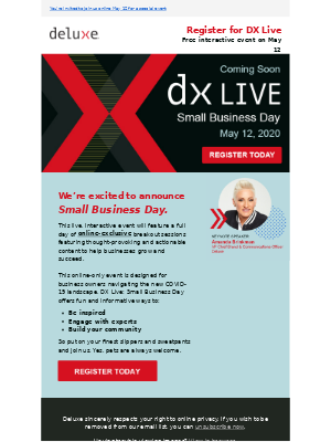 Hurry and sign up for DX Live: Small Business Day