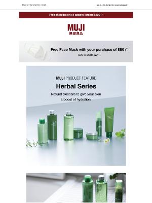 MUJI - New Arrival: Herbal Series🌼