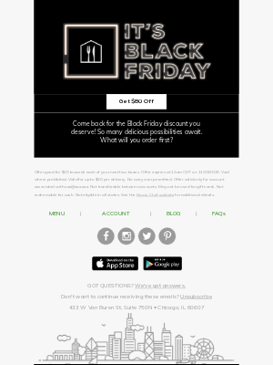 Home Chef - Celebrate Black Friday with $80 off!
