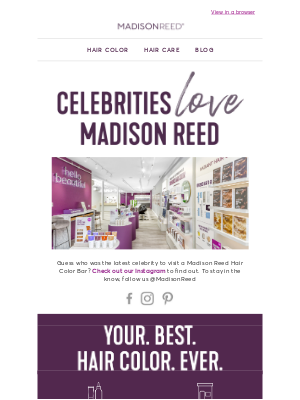 Madison Reed - You'll never guess who uses Madison Reed hair color...