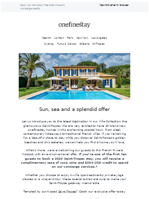 onefinestay - NEW: sunny Saint-Tropez is now part of our Villa Collection