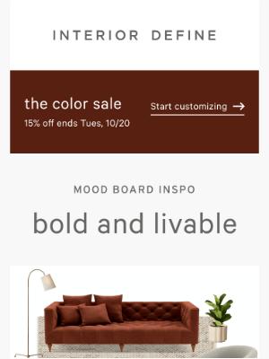 Interior Define - Mood board inspo: bold and livable