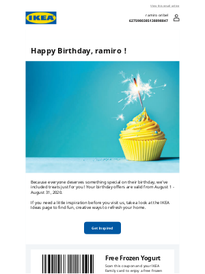 Oops! We fixed it! Happy Birthday from IKEA Family