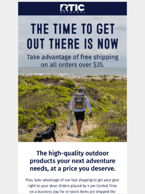 RTIC Outdoors - Don't forget FREE shipping on all orders over $35