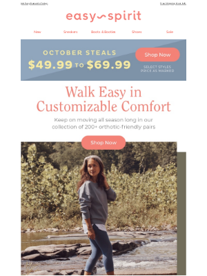 Easy Spirits - Fall's Best Orthotic-Friendly Walking Shoes