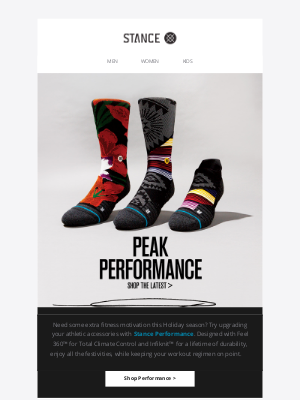 Stance - New Performance Arrivals Are Here
