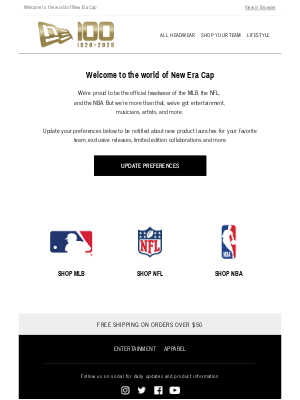 New Era Cap - You're on the list