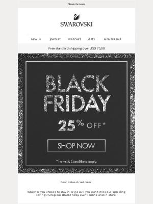 Swarovski - Shop Black Friday deals online or in-store