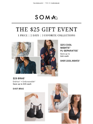 Soma Intimates - $25 deals are *live*​