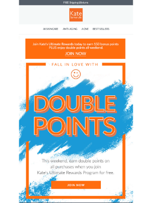 Kate Somerville Skincare - You're Invited To Double Points Weekend!