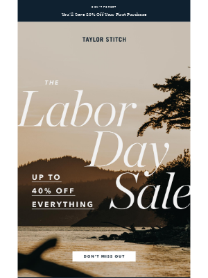 Taylor Stitch - The Labor Day Sale + Brand New Shirting