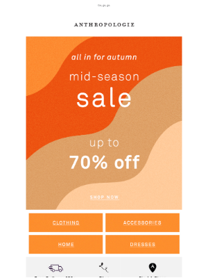 Anthropologie (UK) - When SALE'S up to 70% OFF 🏃♀️