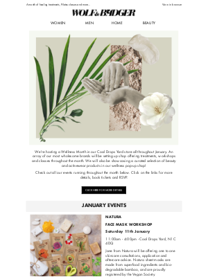 Wellness Month at Wolf & Badger