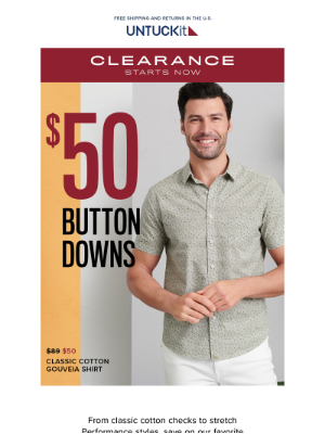 THIS IS BIG: $50 Button-Downs