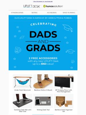 Uplift Desk - Gifts for Dads & Grads