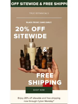 True Botanicals - This. Is. Huge. Black Friday Arrived Early!