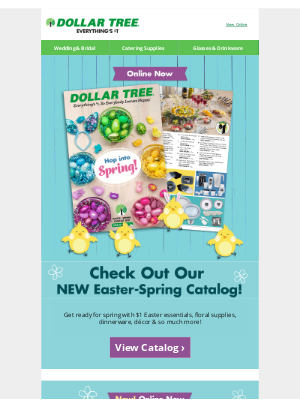 Dollar Tree - Don't Miss Our Easter-Spring Catalog!