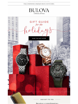 Bulova - Just in Time for the Holidays: Shop Bulova's Gift Guide