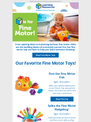 Learning Resources - Building fine motor masters!