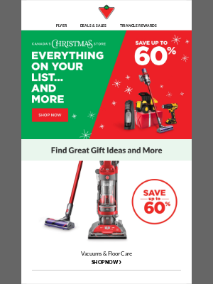 Save up to 60%... on gifts and more!