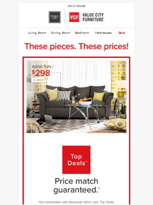 Value City Furniture - Holy WOW! 😮 Crazy good Top Deals inside.