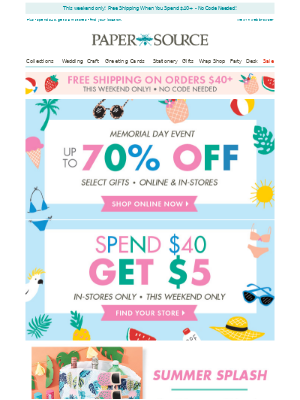 Kick Off Summer With Deals Up To 70% Off!