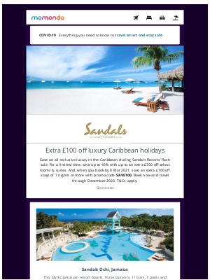 momondo (UK) - Luxury Caribbean all-inclusive escapes to Sandals Resorts
