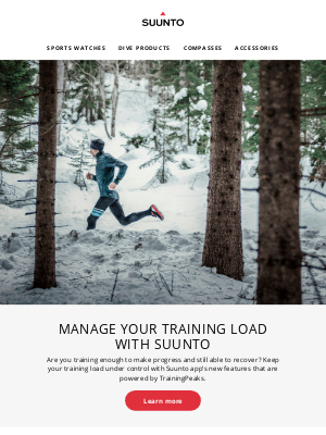 suunto - Manage your training load with Suunto