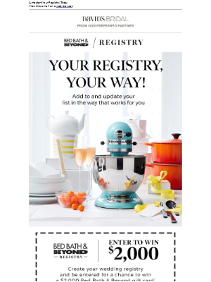 Your Registry, Your Way! Enter to Win at Bed Bath & Beyond!