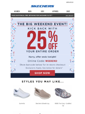 SKECHERS - Time is running out!