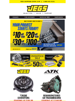 JEGS Performance - Shop Our Huge Selection of Transmissions and Accessories