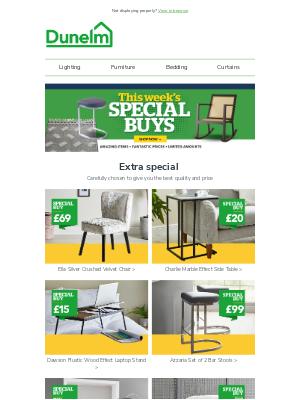 Dunelm (UK) - Special buys? You betcha